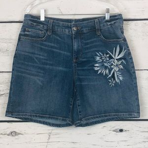 St. John's Bay Embroidered Jean Shorts